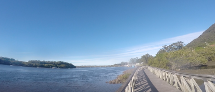 Looking south over Camden Head Inlet, on route to the next checkpoint